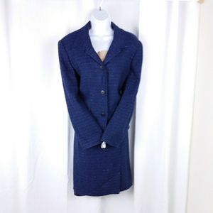 McnNaughton Blue multi color skirt suit 10